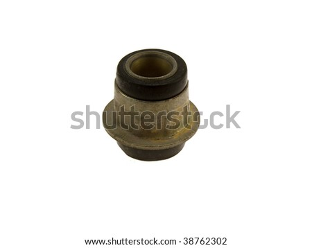 Rubber metal ball joint isolated on a white background