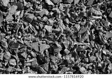rubber mulch closeup #1157816920