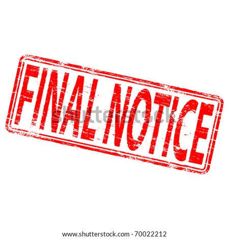 """Rubber stamp illustration showing """"FINAL NOTICE"""" text"""
