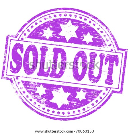 "Rubber stamp illustration showing ""SOLD OUT"" text"