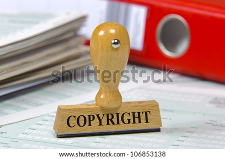 rubber stamp marked with copyright