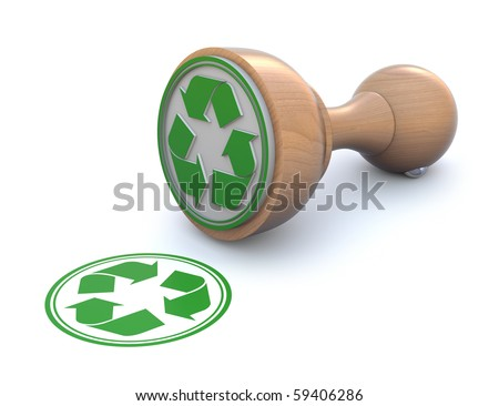 Rubber stamp-recyclable