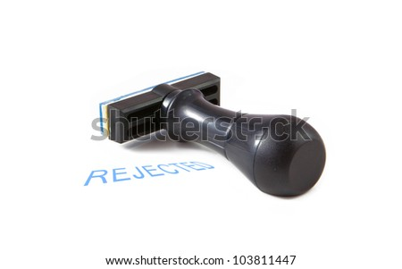 rubber stamp with the word rejected isolated on white background