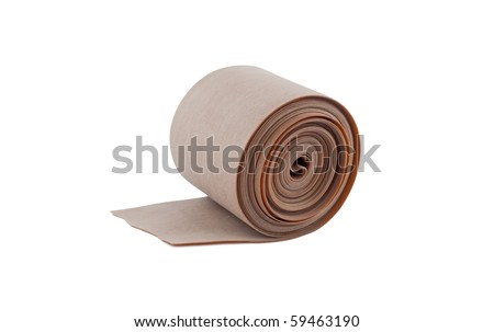 Rubber tape isolated on white background.