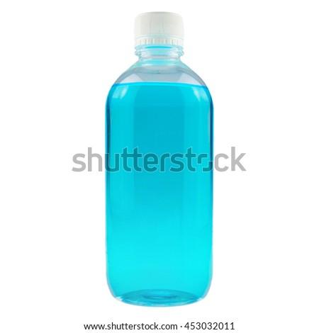 rubbing alcohol ethanol, isolated on white background