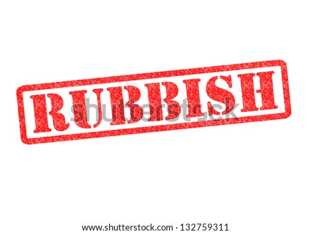 RUBBISH Rubber Stamp over a white background.