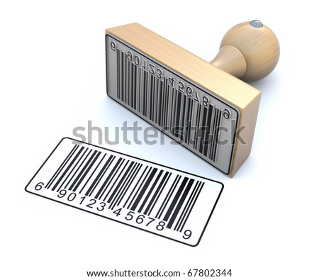 Ruber stamp with barcode