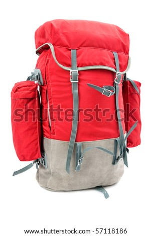 rucksack on the white background