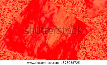 Rufous Marble Exterior. White Interior Wall. Red Decoration Splash. Maroon Construction Background. Coral Surface Creative. Rusty Mosaic Material. Tile Material. Stone Liquid