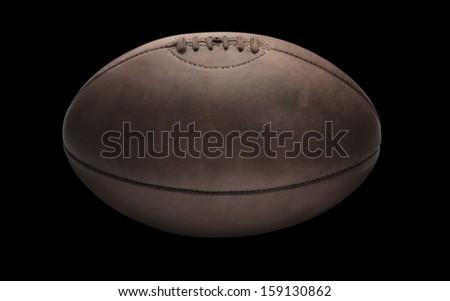rugby ball black