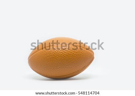 Rugby ball  on white #548114704
