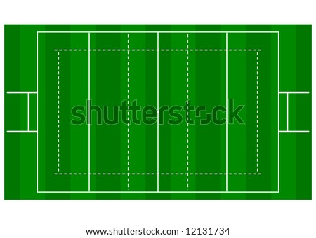 Rugby Pitch - Overhead View