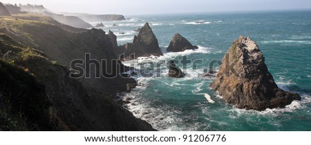 rugged coast line in mendocino  ...