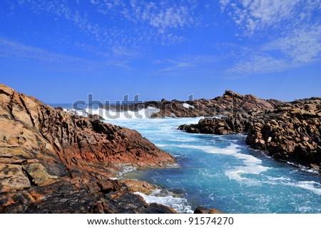 Rugged Coastline Of Australia'S South West Coast, Canal ...