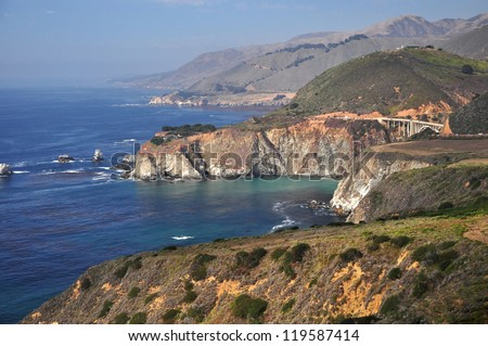 Rugged Coastline on Pacific Coast Highway, California