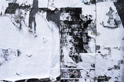 rugged dirty ripped torn abstract street poster grunge, use as mixed media art layer