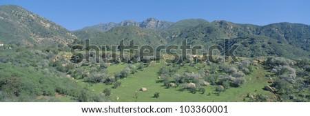Rugged hills in Upper Ojai Valley, California