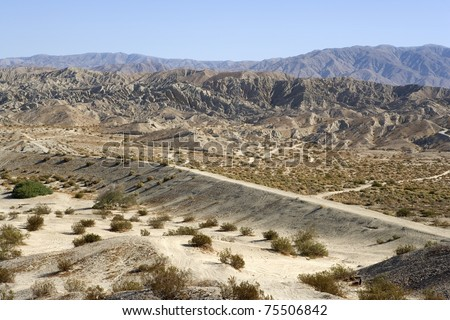 Rugged Indio Hills in the Coachella Valley, California