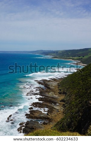 Rugged ocean coastline #602234633