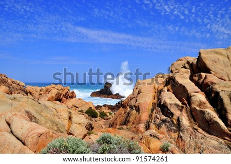 Rugged Western Australian Coastline - stock photo