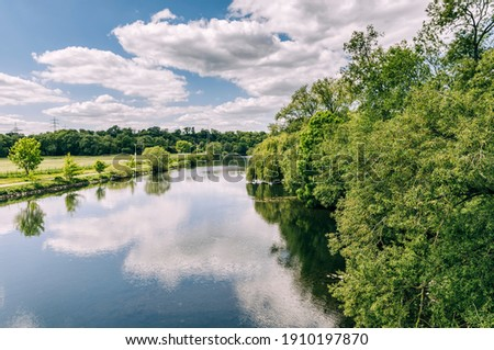 Ruhr River - Essen, NRW, Germany Stock foto ©