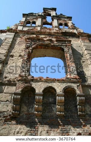 ruin castle poland Krzy?anowice Zdjęcia stock ©