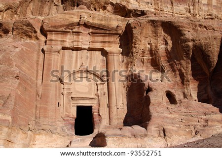 Ruin of Renaissance Tomb in Petra, Jordan