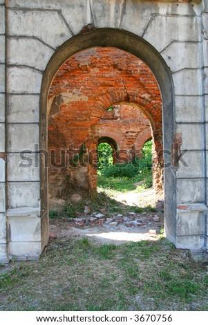 ruin poland Krzy?anowice Zdjęcia stock ©