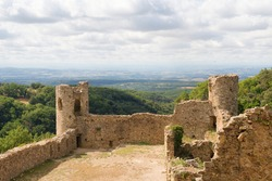 Ruin Saissac in French languedoc