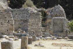 ruin stone rock