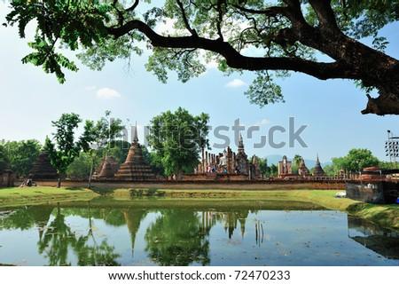 Ruin temple in Sukhothai
