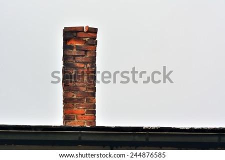 Ruined brick chimney #244876585