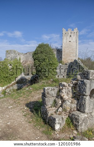 Ruined city Dvigrad - picturesque ruins labyrinth in istria