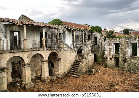 Ruined convent of Granja in Boticas, north of Portugal