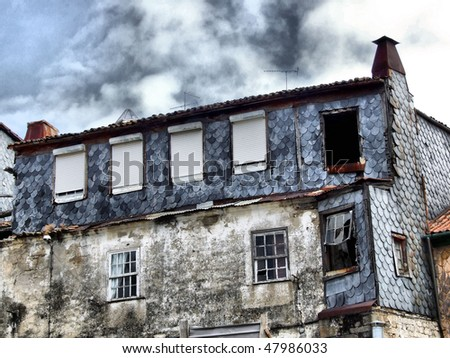 Ruined house in Lamego