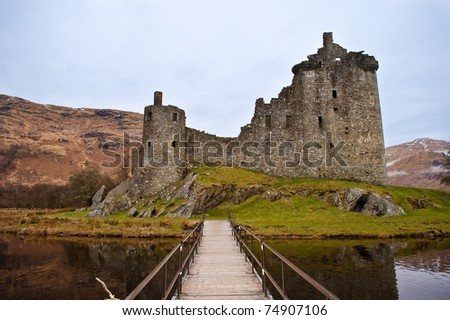 Ruined Kilchurn Castle near Dalmally, Scotland