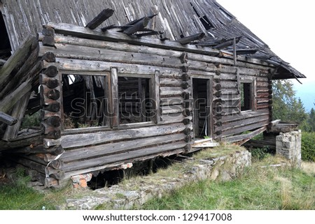 Ruined Mountain Hut in Pieniny