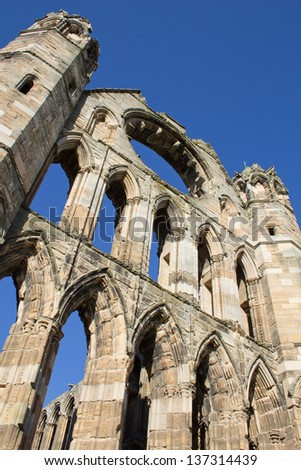 Ruined remains of 13th Century Elgin Cathedral, Scotland