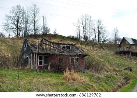 ruinous cabin
