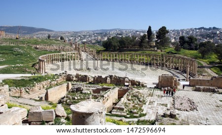 ruins and fragments of ancient roman cities