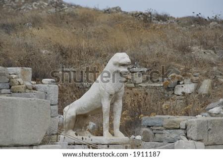Ruins at Delos, Greece