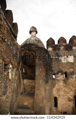 Ruins at Fort Jesus, Mombasa Kenya Africa