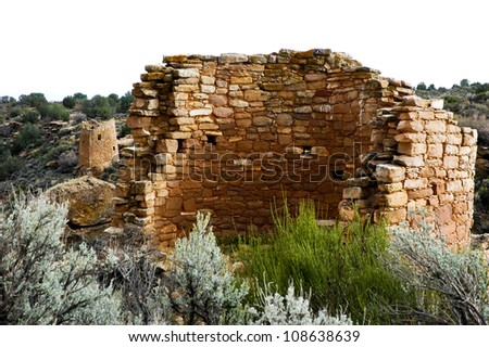 Ruins at Hovenweep National Monument. Once home to over 2,500 people, Hovenweep includes six prehistoric villages built between A.D. 1200 and 1300.