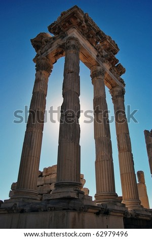Ruins at the ancient city of Pergamon in Turkey.