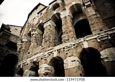 Ruins by Teatro di Marcello, Rome, Italy