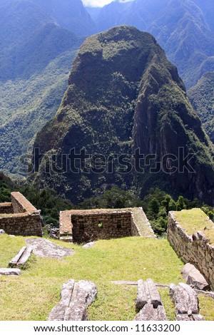 Ruins in Machu Picchu, Peru, home of the Incas