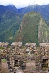 Ruins in Machu Picchu, the Lost Inca City