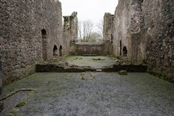 Ruins of a Medieval priory. Medieval, religious, middle-age life, ancient walls concept.