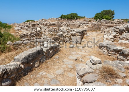 Ruins of a Minoan settlement Gournia. Crete, Greece