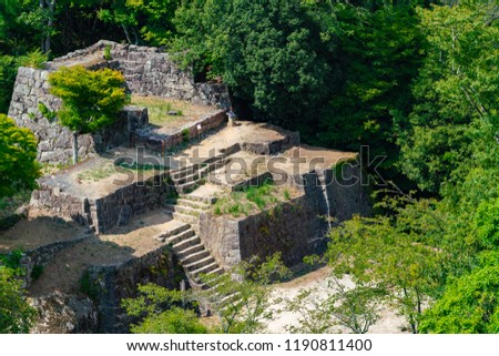 Ruins of a Naegi castle in Japan